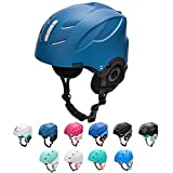 meteor Skihelm Snowboard Helm Herren Ski Helmet fur Erwachsene und Kinder-Skihelm Damen (M 55-58 cm, LUMI Marine-grau)