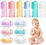 6 Stück Fingerzahnbürste baby, Baby Zahnbürsten, Säugling Zahnbürsten, Children Toothbrush - hochwertige, weiche BPA-freie Borsten - mit Aufbewahrungsbox (color)