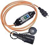 Bachmann 341.880 Schutzkontakt-Verlängerung mit PRCD H07BQ-F3G1,5 mm² in orange