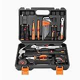 Kleines Haushaltswerkzeugset, Allgemeine Reparaturhandwerkzeuge, Mit Kunststoff-Werkzeugkasten-Aufbewahrungsbox,2 (A)