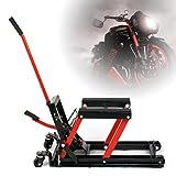 Futchoy Motorradheber Hydraulischer Motorrad Montagebock Motorradhebebühne Ständer Hubständer Repair Ständer Max Belastung 680 kg ATV/Quad