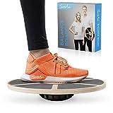 SportyAnis® Premium Balance-Board Holz inkl. Übungsbuch...