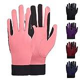 ChinFun Reithandschuhe für Damen, dehnbar, atmungsaktiv, für Outdoor-Aktivitäten, Damen, rosa - deep pink, X-Large