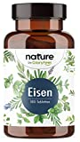 Eisen mit 40mg natürlichem Vitamin C - 40mg Eisen/Tablette - Premium-Rohstoffe: Eisenbisglycinat (Eisen-Chelat) + Acerola - 180 Tabletten - Laborgeprüft in Deutschland hergestellt