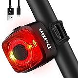 Deilin LED Fahrrad Rücklicht, Zugelassen IPX5 Wasserdicht Auflagbar Akku mit USB 220 Grad Weitwinkelsicht Fahrradlicht Fahrradbeleuchtung Fahrradlampe für Radfahren, Camping, Wanderung