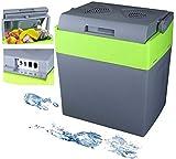30 Liter 2in1 Kühlbox | Elektrische Kühlbox | Kühltasche | Isoliertasche | Thermobox | Warmhaltebox | Auto | Camping | Thermal Kühlbox (Gora Grey/Gilmo Green)