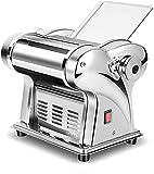 SDHENAILIAN Nudelmaschinen Automatik, 2 Verschiedene Formen Kommerzielle Edelstahl Electric Pasta Maschine 6 Arten von Dickenanpassungs-Teigmaschine Dumplatplattenmaschine (Color : A)