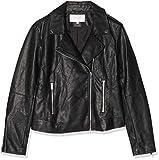 Vila Clothes Damen Vicara Faux Leather Jacket Jacke, Schwarz (Black Black), 42 (Herstellergröße: XL)