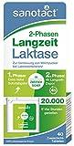 sanotact 2-Phasen Langzeit Laktase 20.000 FCC - 40 Tabletten, zur Verdauung von Milchzucker bei Laktoseintoleranz, Tabletten-Box