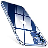 TORRAS Crystal Clear Hülle Kompatibel mit iPhone 12 Mini, Vergilbungsfrei Silikon Case Durchsichtig Dünn Handyhülle (Transparent)