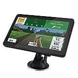 GPS Navi Navigationsgeräte für Auto, 7 Zoll Navigation Touchscreen Straßennavigation 8G 128M Sprachführung Blitzerwarnung mit POI Sprachführung Fahrspurassistent, kostenloses Karte-Update