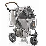 Regenschutz für Hundebuggy TOGfit - Regenverdeck mit Fenster, Belüftungsnetz und aufklappbarem Einstieg - passt ideal auf Hundewagen Pet Roadster