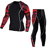 NKSS Thermounterwäsche Herren Herren Thermo Unterwäsche Set Winter Warm Base Layer Laufanzug Kompressionskleidung Männlicher Sportanzug-Anzug 4_XXXL