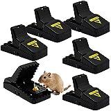 Mausefalle, 6er Set Profi Mäusefalle Schlagfalle Rattenfalle, Wiederverwendbar Mouse Trap Profi Mausefallen in Haus und Garten