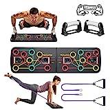 BAISIQI Push Up Board Liegestütze Brett Home Fitness Liegestützgriffe Sportgerät für Zuhause Kordelzug Unterstützung Übungswerkzeuge für Männe