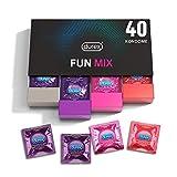 Durex Fun Explosion Kondome in stylischer Box – Aufregende Vielfalt, praktisch & diskret verpackt - Verhütung, die Spaß macht – Kondom Probierpaket – 40er Großpackung (1 x 40 Stück)