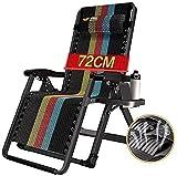 YYHAD Zusammenklappbarer Liegestuhl, zero-Schwerkraft-Stühle, zusammenklappbar, tragbare Sonnenliege, Schaukelliege, Liegestuhl