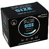 PURESIZE Kondome 40 Stück 64mm nominale Breite, 100% MADE IN GERMANY, vegan