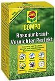 Compo Rasen Unkrautvernichter Perfekt, Vernichtung von schwerbekämpfbaren Unkräutern, Konzentrat, 4 x 200 ml (800m²)