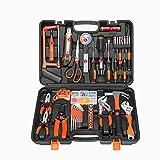 Kleines Haushaltswerkzeugset, Allgemeine Reparaturhandwerkzeuge, Mit Kunststoff-Werkzeugkasten-Aufbewahrungsbox,3 (B)