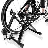 DRMOIS Rollentrainer Fahrradtrainer Indoor Fahrrad Heimtrainer klappbar inkl. Schaltung mit 6 Gänge für Rennrad 24'-28' Stahl