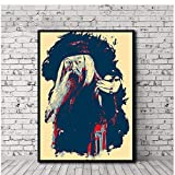 sechars Albus Dumbledore Poster Film Leinwanddrucke Home Wall Decorative Unique Artwork -60x80cm Kein Rahmen