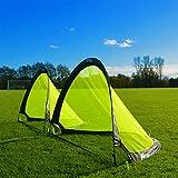FORZA Flash Pop-Up Fußballtore (Paar) (0,76m, 1,21m oder 1,83m) – das Beste Pop-Up Fußballtor für sofortiger Spaß (0,76m)