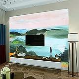 HJKGSX Kinderzimmer Hintergrund 3D Wallpaper Wandbilder Ölgemälde Landschaft Tapete Wohnzimmer- 150x100 cm