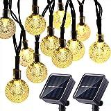 Timaw-Solar-Lichterkette mit 30 LEDs, wasserdicht, für den Außenbereich, Weihnachtsbeleuchtung, Gartendekoration, Lichterkette (Farbe: 30 Lichter, 6,5 Meter, Größe: 4 Farben, 24 mm)