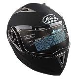 Estink Motorradhelm Klapphelm, Genehmigt Integralhelm Fullface Klapphelm Motorrad Roller Sturz Helm, mit Sonnenblende, 63-64 cm (XXL, Matt-schwarz)