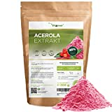 Acerola Pulver - 300 g (6,6 Monate Vorrat) - Natürliches...