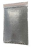 HOLPACK 50 Stück Luftpolsterversandtaschen 27,9 x 38,1 cm selbstklebende thermoisolierte Umschläge aus reflektierenden Thermo-Luftpolsterfolien für Kälteversand Leichte Wärme, hergestellt in den USA