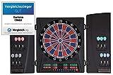 Dartona Elektronische Dartscheibe CB160 Cabinett   Dartscheibe elektronisch   Turnierscheibe mit 33 Spielen und über 160 Varianten