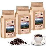 Kaffee Globetrotter - Kaffee Mit Herz - Colombia Hacienda La Claudina - 3 x 1000 g Ganze Bohnen - Spitzenkaffee Aus Kolumbien Fair Gehandelt Unterstützt Soziale Projekte