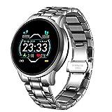 LTLGHY Smartwatch HD Touchscreen Fitness Tracker Unterstützung Blutdruck Herzfrequenz Schlafüberwachung Schrittzähler IP68/IP67 wasserdichte Kompatibel Mit Android Und IOS,Silber