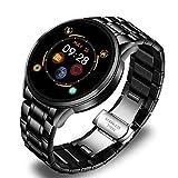 LTLGHY Smartwatch HD Touchscreen Fitness Tracker Unterstützung Blutdruck Herzfrequenz Schlafüberwachung Schrittzähler IP68/IP67 wasserdichte Kompatibel Mit Android Und IOS,Schwarz