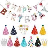 Lictin Geburtstag Dekoration Set Happy Birthday Girlande...