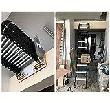Aluminium Dachbodenleiter unsichtbare Falttreppe Multifunktions-Dachbodenleiter 1.5M-3M benutzerdefinierte (Carbon steel)