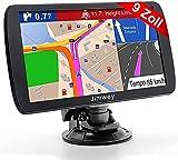 Jimwey GPS Navi Navigation für Auto LKW PKW 9 Zoll Lebenslang Kostenloses Kartenupdate Navigationsgerät mit POI Blitzerwarnung Sprachführung Fahrspurassistent 2021 Europa UK 52 Karten