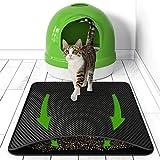 BELISY Katzenklo Matte Hygieneheld - 75x55 cm - Unterlage für Katzentoilette mit Waben Struktur - Fängt Katzenstreu auf