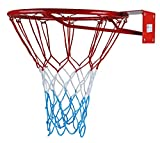 KIMET HangRing Basketballkorb Basketball Basketballring mit Ring und Netz Qualität-und Sicherheitsgeprüft Abmessungen: Ø 45 cm und 37 cm (zur Auswahl) (KIMET 37, 45 cm)