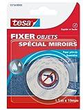 Tesa Klebeband Spezial für die Befestigung von Spiegeln, Weiß