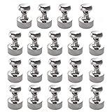 Neodym Magnet N52 Extra Stark 18 Stück Magneten 12 x 16 mm für Magnettafel, Stecktafel, Kühlschrank, Kegelmagnete, Notenmagnete,Pinnwand,Vernickelter Stahl neodym Magnete mit Aufbewahrungsbox