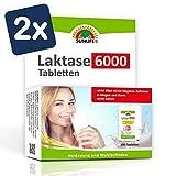 SUNLIFE Laktasetabletten 6.000 FCC im Klickspender: bei Lactoseintoleranz, praktisch für unterwegs, 100 Stk. - 2er Pack