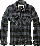 Brandit Check Shirt Herren Baumwoll Hemd M Black-grey