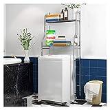 JHWSX Badezimmerablage Wäschereiorganisator, Edelstahl Dem Toilettenregal Badezimmer Raumschoner Lagerregal