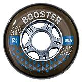 K2 Skates Unisex– Erwachsene Rollen Booster 72 MM 80A 4-Wheel Pack — Black — 72mm — 30F3003