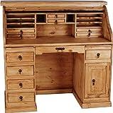 MiaMöbel Sekretär Mexico 120x125x58 cm Mexico Möbel Landhausstil Massivholz Pinie Honig