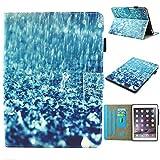 GHC PAD Schutzhülle und Cover für iPad Mini 1 2 3 4 5, mit Buchstabendruck, Klappetui, staubabweisend, stoßfest, mit Standfunktion, für iPad Mini 1 2 3 4 5 (Farbe: Regen)