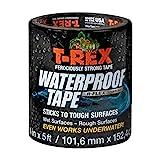 T Rex Klebeband, wasserdicht, 101 mm x 1,52 cm, R Flex Technologie Ein starkes Klebeband, das unter Wasser funktioniert, versiegelt und repariert, Schwarz